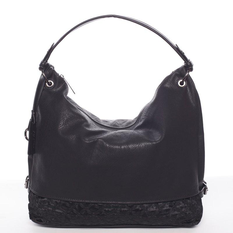 Hladká dámská kabelka Estela, černá