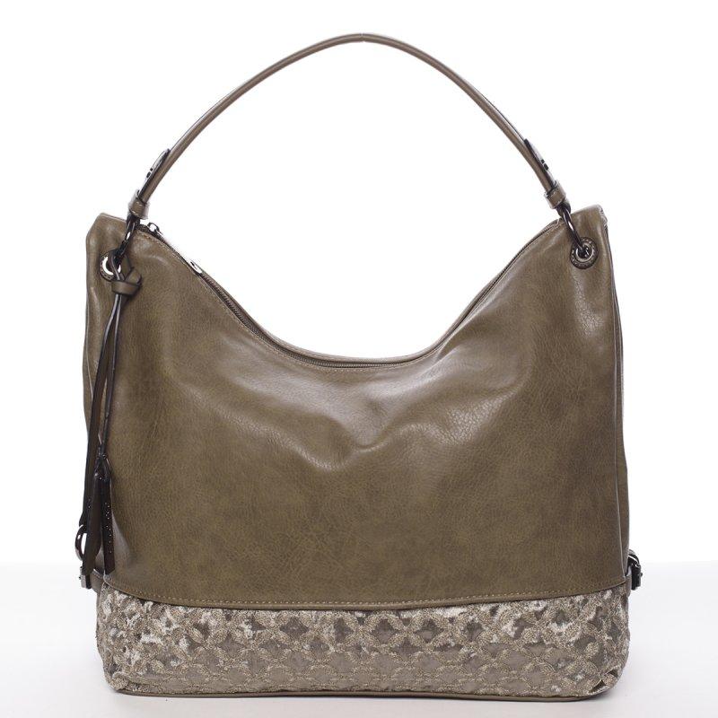 Hladká dámská kabelka Estela, zelená