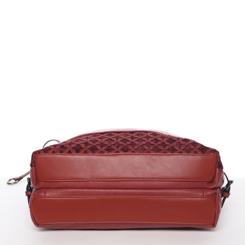 Hladká dámská kabelka Estela, červená
