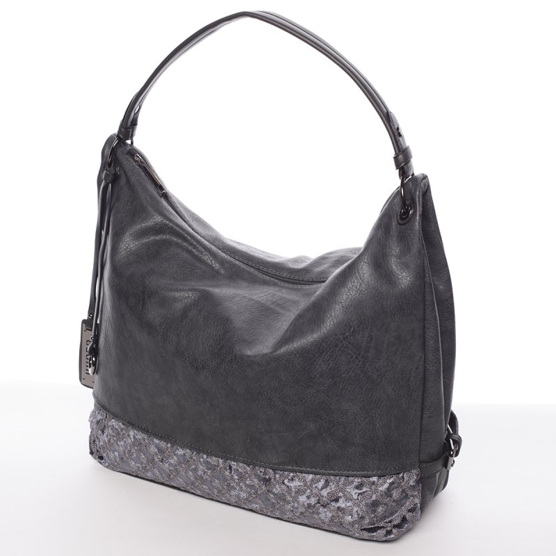 Hladká dámská kabelka Estela, šedá