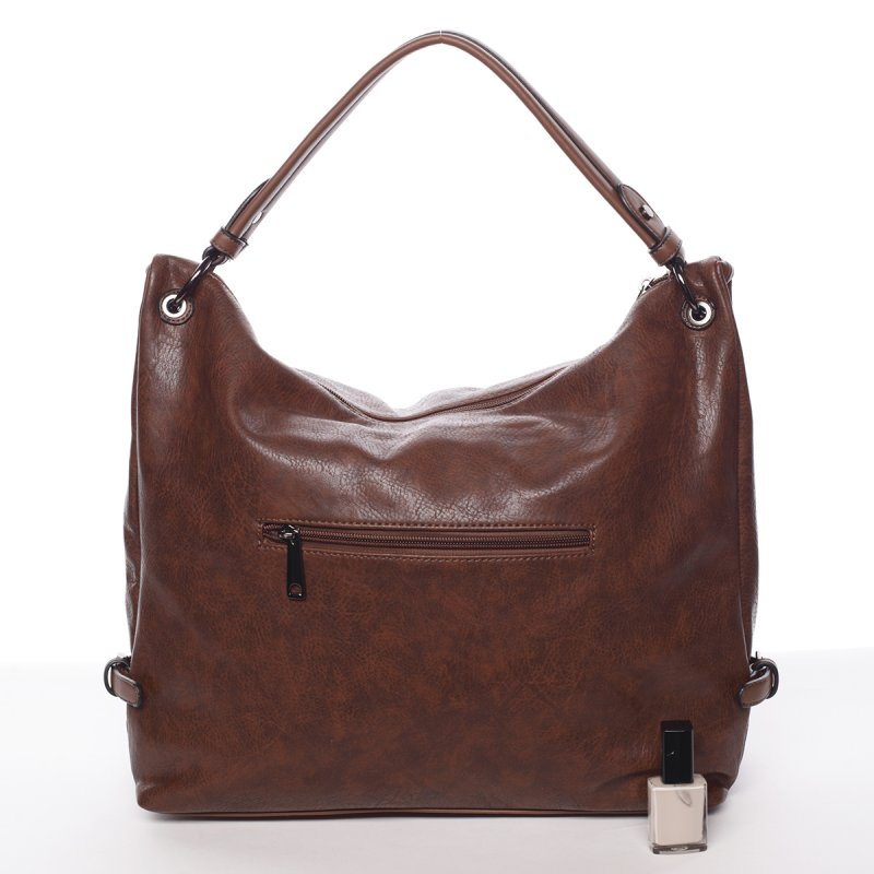 Hladká dámská kabelka Estela, tmavě hnědá