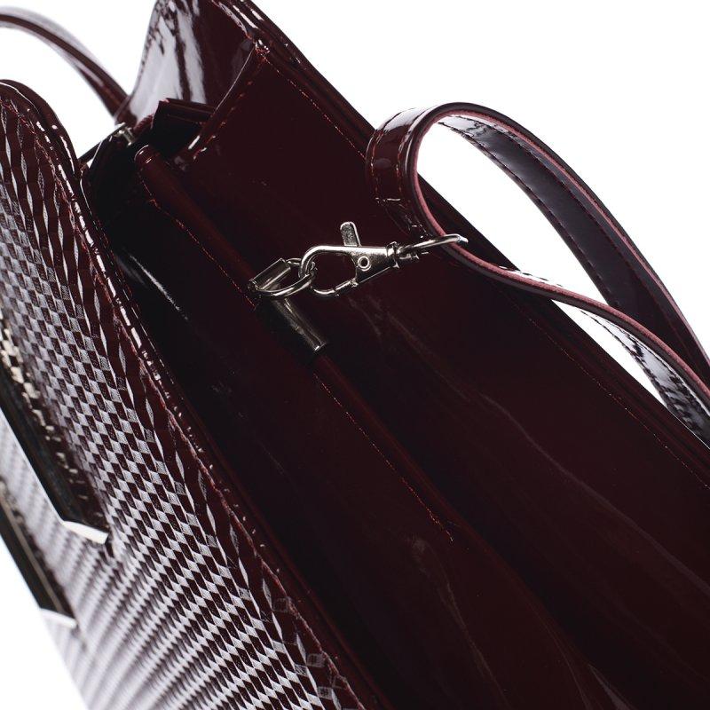 Pevná dámská kabelka Noemi, vínově červená