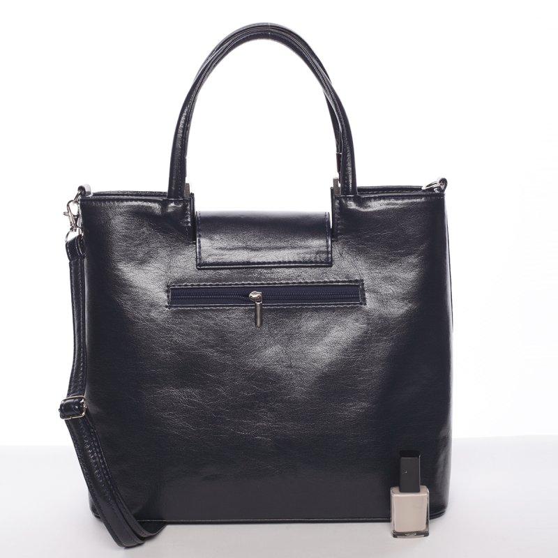 Kožená dámská kabelka do ruky Marisa, modrá