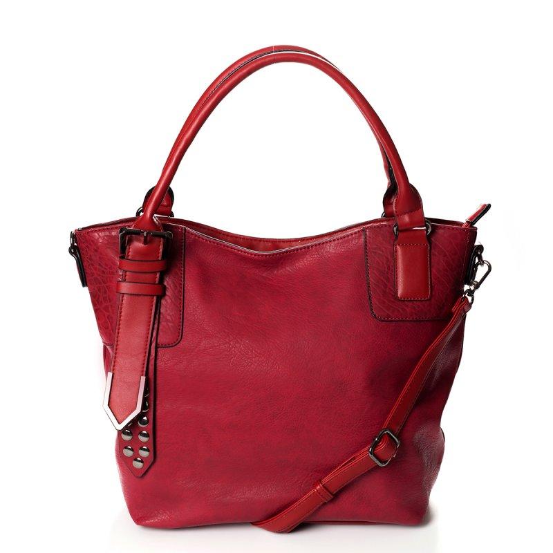 Atraktivní dámská kabelka do ruky Marisa, červená