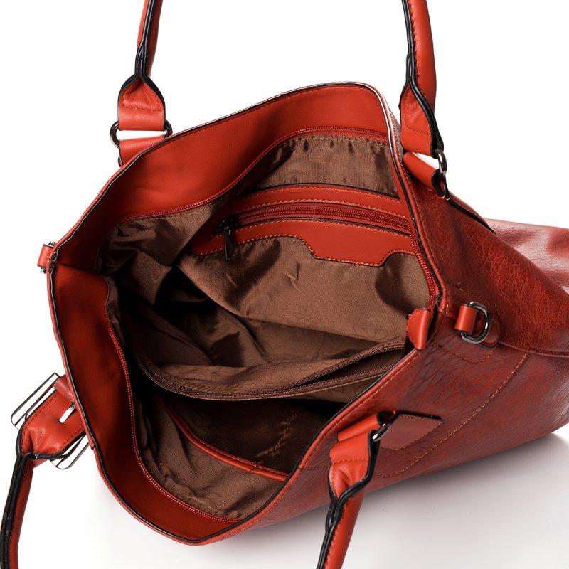 Atraktivní dámská kabelka do ruky Marisa, koňakově hnědá