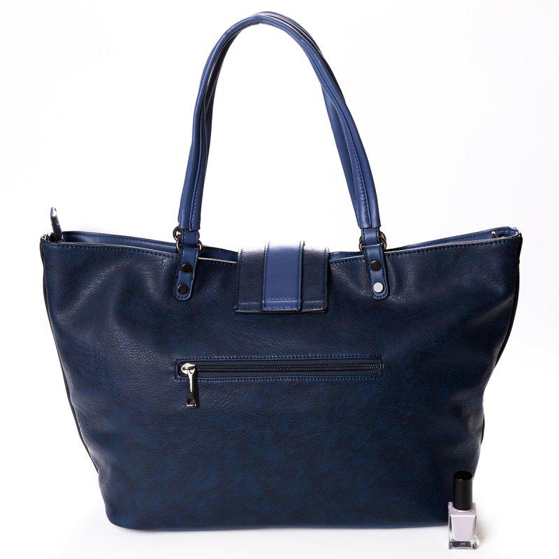 Módní velká dámská kabelka Joana, modrá