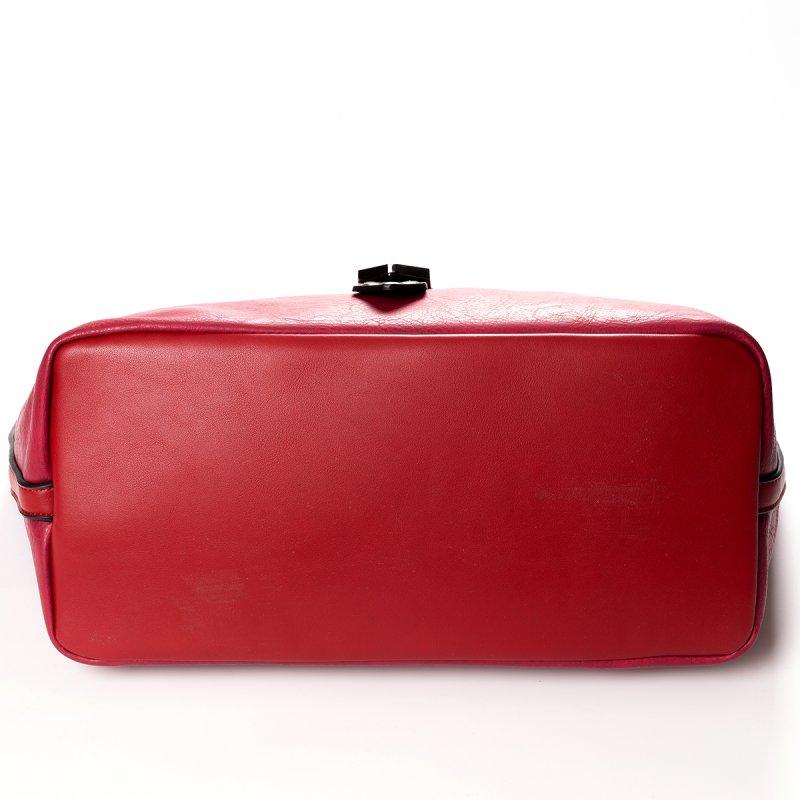 Módní velká dámská kabelka Joana, červená
