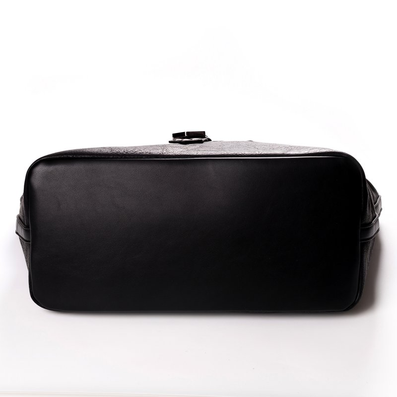 Módní velká dámská kabelka Joana, černá