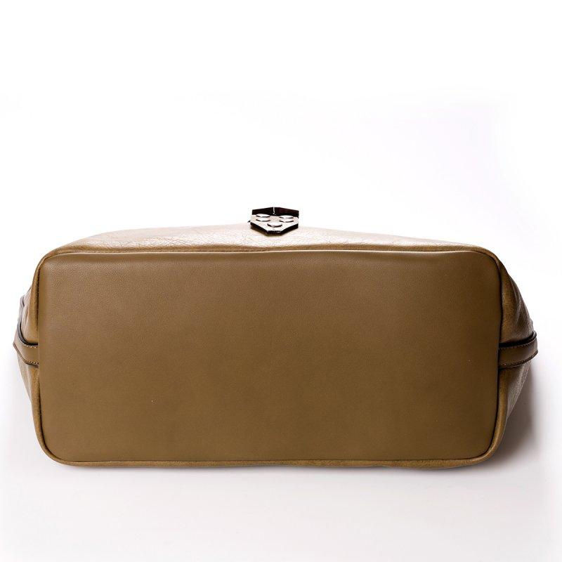 Módní velká dámská kabelka Joana, zelená