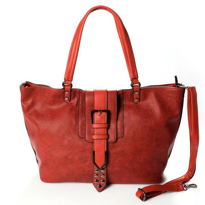 Módní velká dámská kabelka Joana, světle hnědá