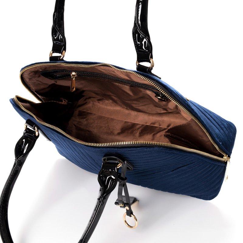Semišová dámská kabelka do ruky Marisa, modrá