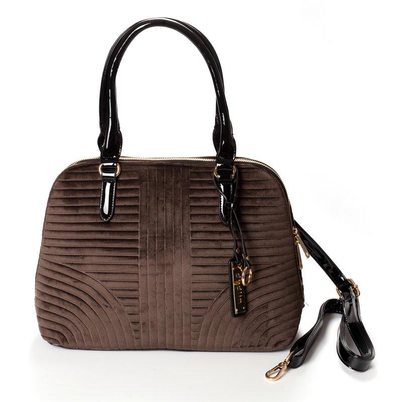 Semišová dámská kabelka do ruky Marisa, hnědá