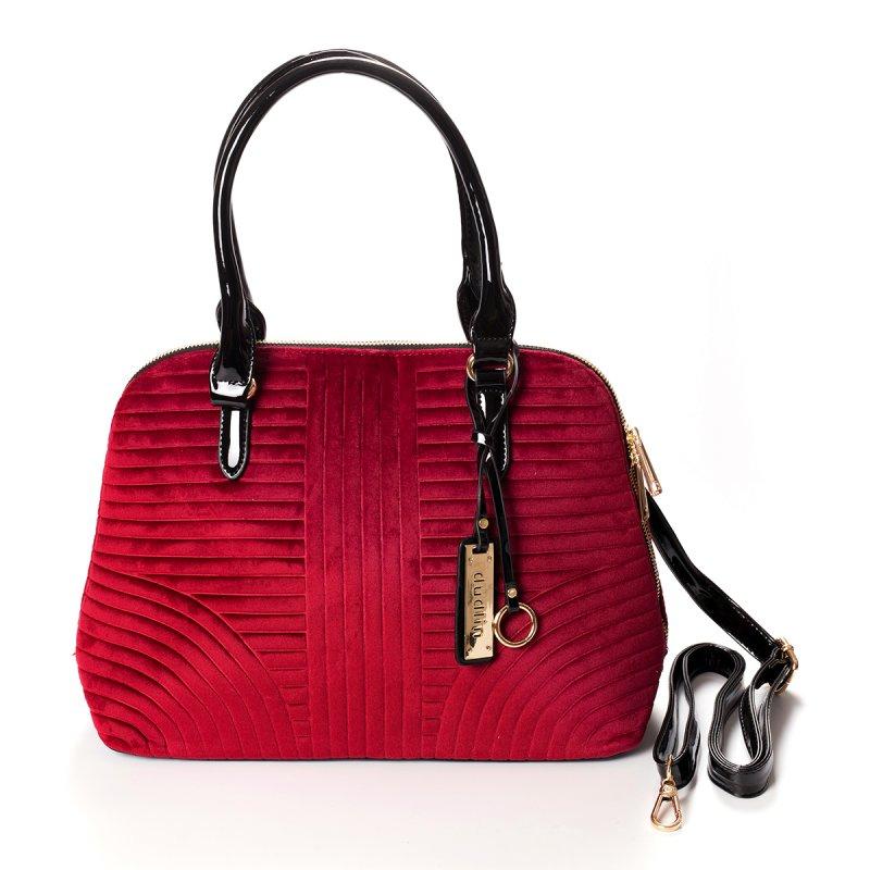 Semišová dámská kabelka do ruky Marisa, červená