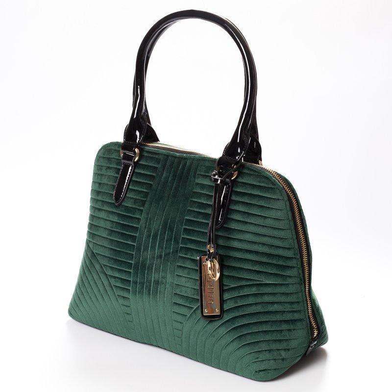 Semišová dámská kabelka do ruky Marisa, zelená