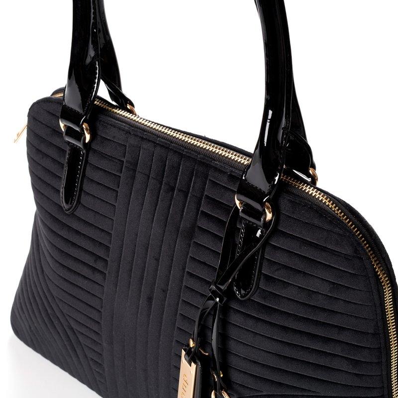 Semišová dámská kabelka do ruky Marisa, černá