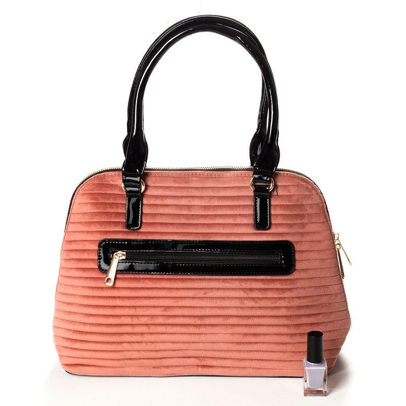 Semišová dámská kabelka do ruky Marisa, růžová