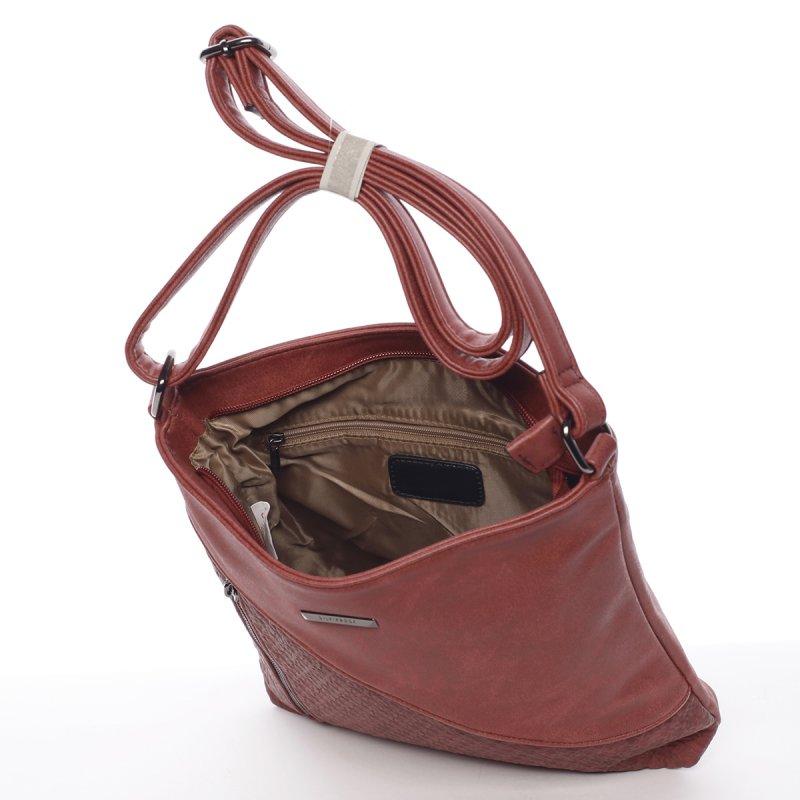 Červená dámská crossbody kabelka Robel
