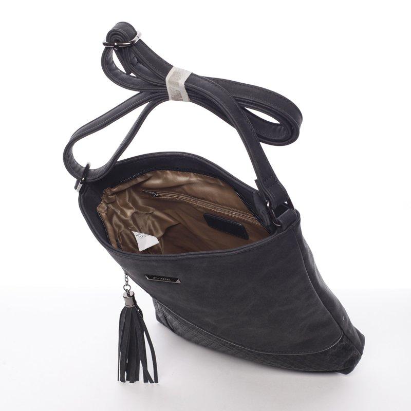 Černá dámská crossbody kabelka Robel