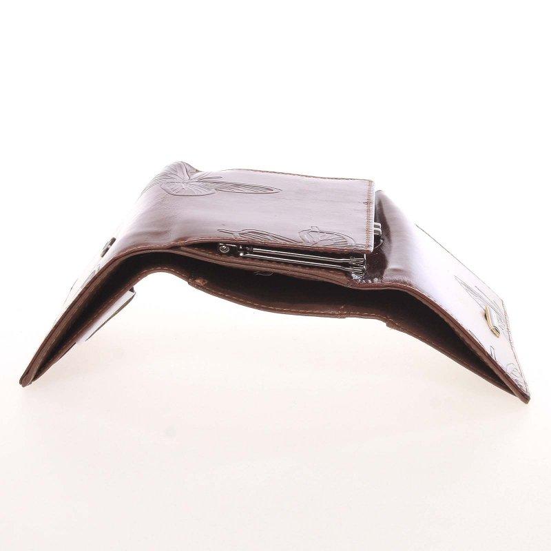 Kožená dámská peněženka Fiona, hnědá