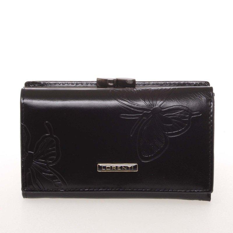 Kožená dámská peněženka Fiona, černá