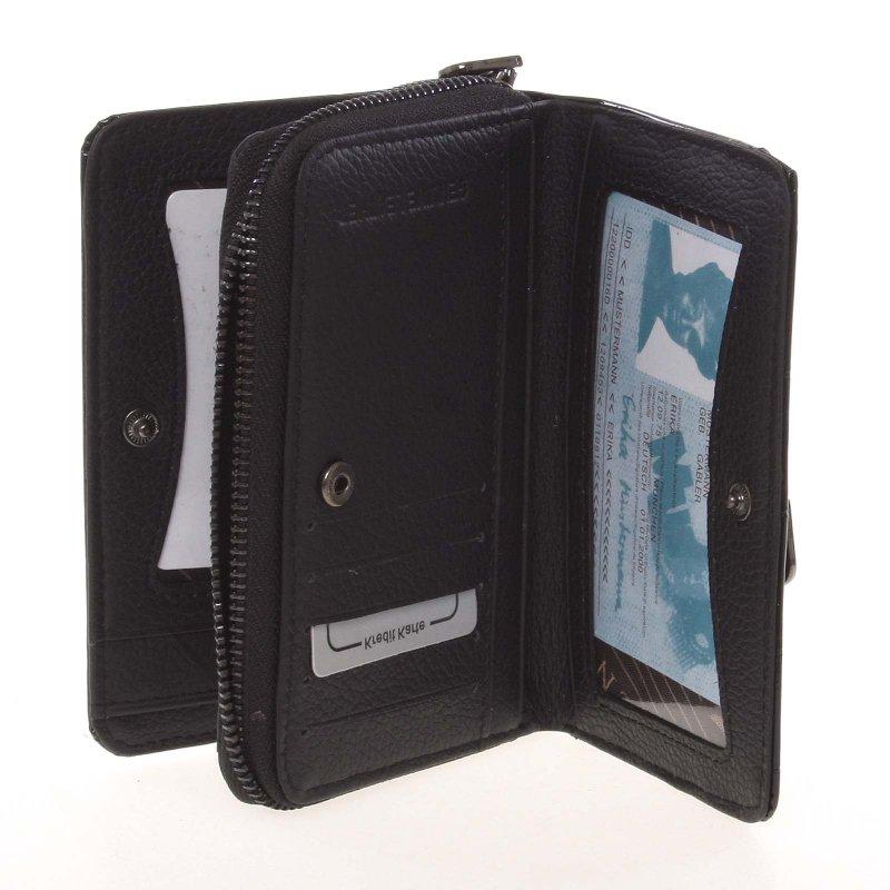 Černá kožená dámská peněženka Karol