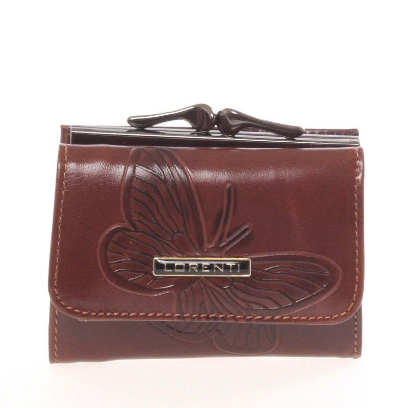 Kožená mini dámská peněženka Ilana, hnědá
