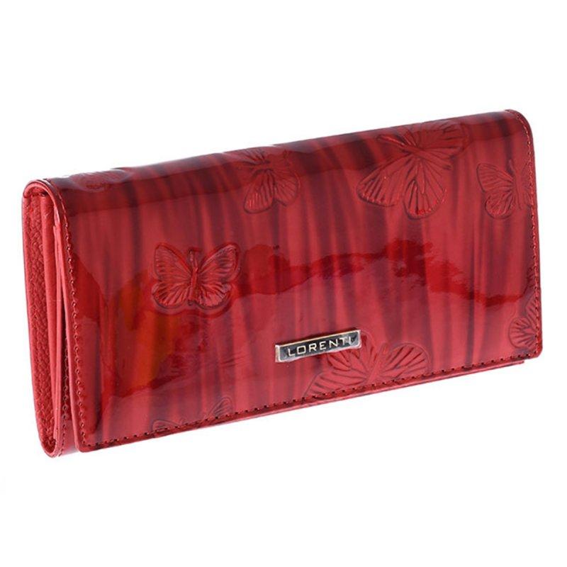 Kožená dámská peněženka Déborah, červená