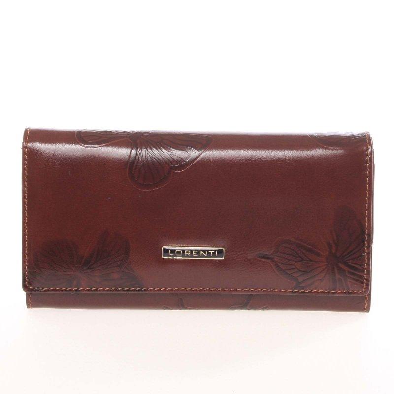 Kožená dámská peněženka Brisa, hnědá