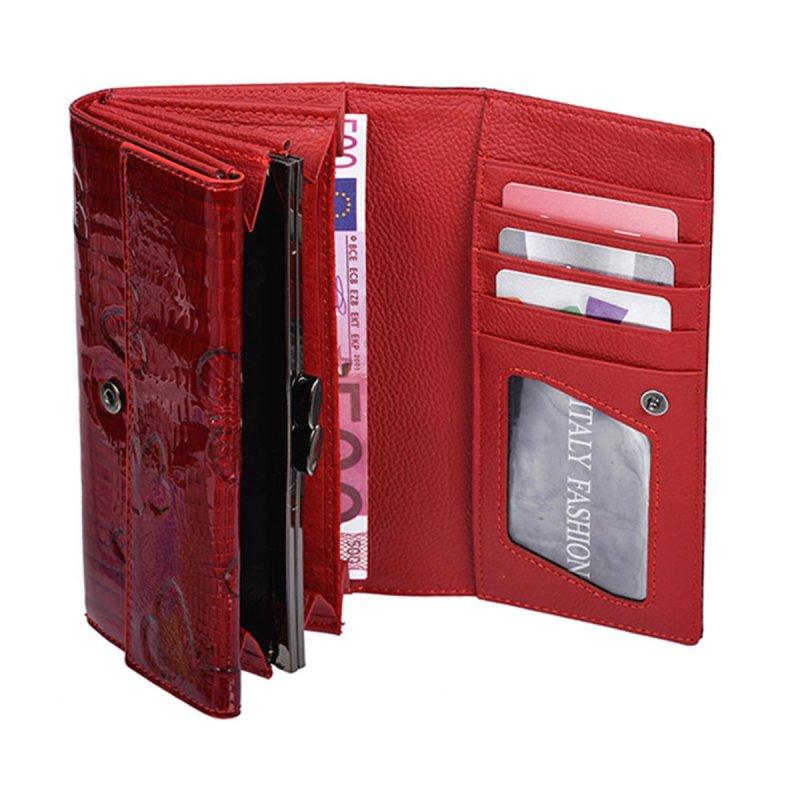 Módní dámská peněženka Valerie, červená