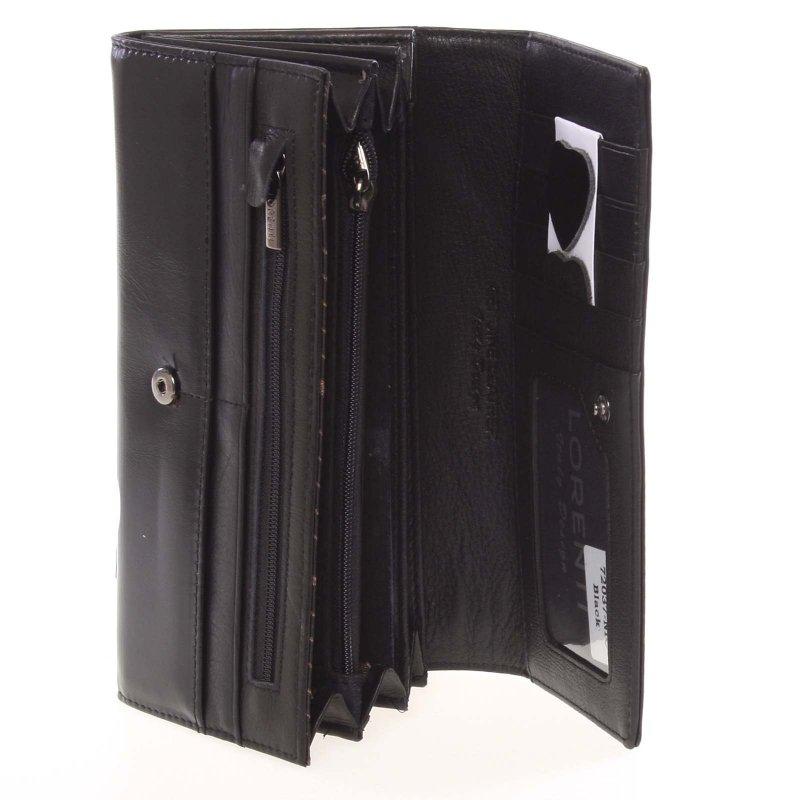 Kožená dámská peněženka, černá