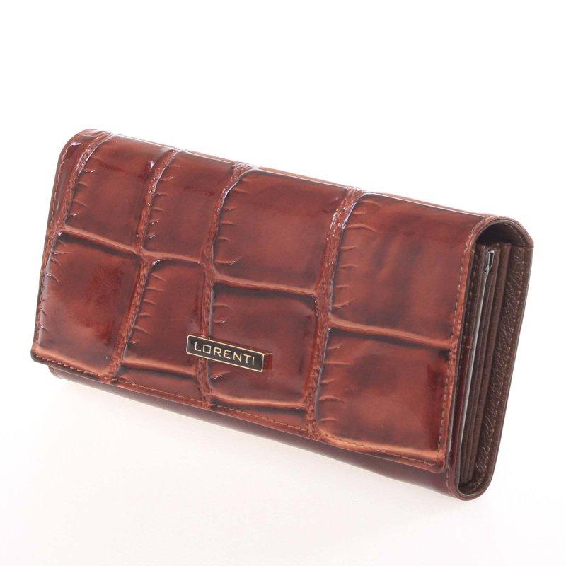 Kožená dámská peněženka Valerie, hnědá
