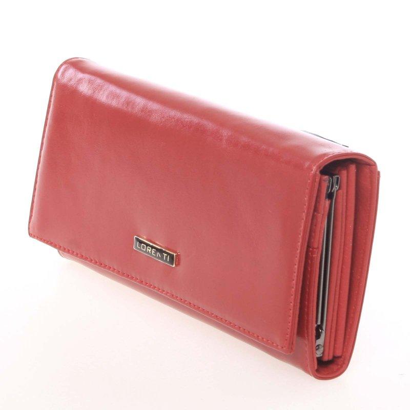 Matná dámská peněženka Alexie, červená