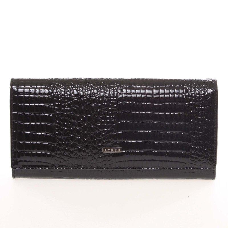 Matná dámská peněženka Alexie, croco černá