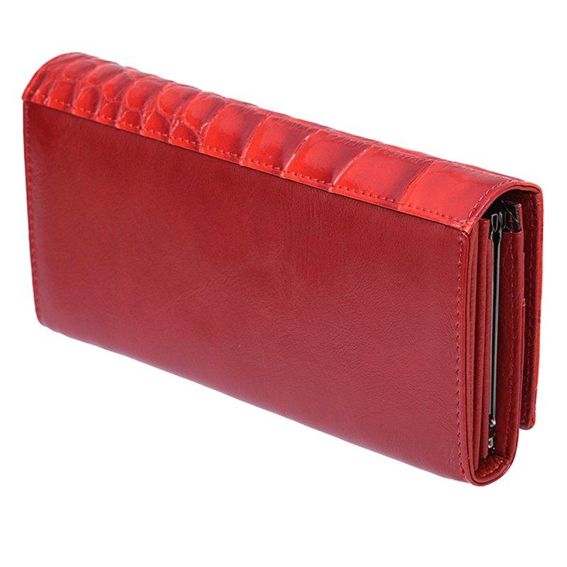 Elegantní kožená dámská peněženka Eugenie, červená
