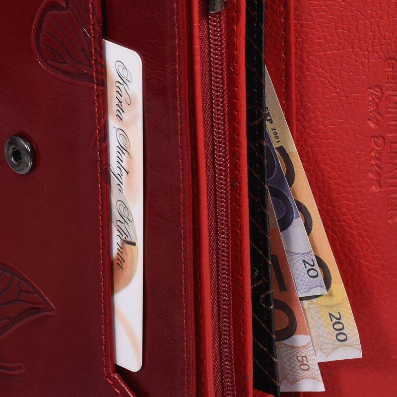 Červená dámská peněženka Francesca