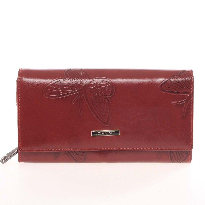 Červená kožená dámská peněženka, Ariela