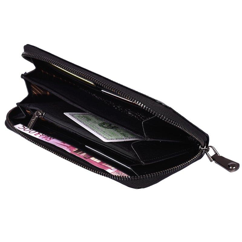 Kožená dámská peněženka Thalie, černá