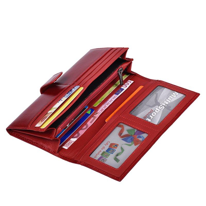Kožená dámská peněženka Belinda, červená