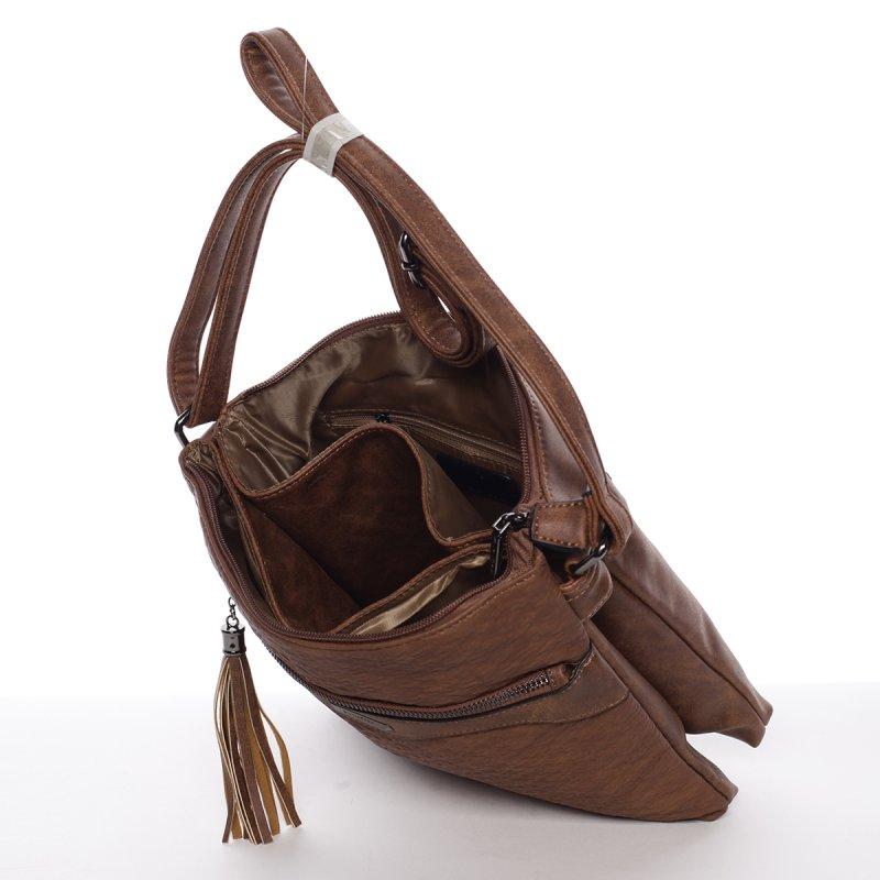 Trendy dámská crossbody kabelka Thalie, hnědá