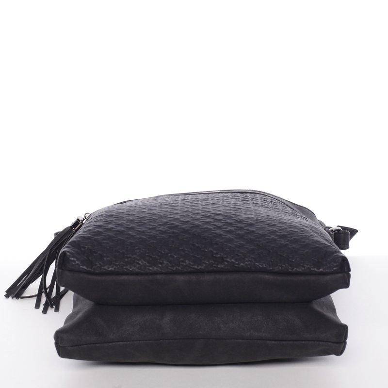 Trendy dámská crossbody kabelka Thalie, černá