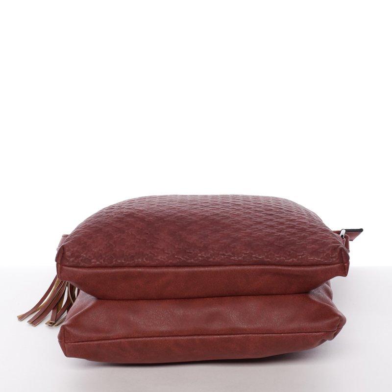 Trendy dámská crossbody kabelka Thalie, červená