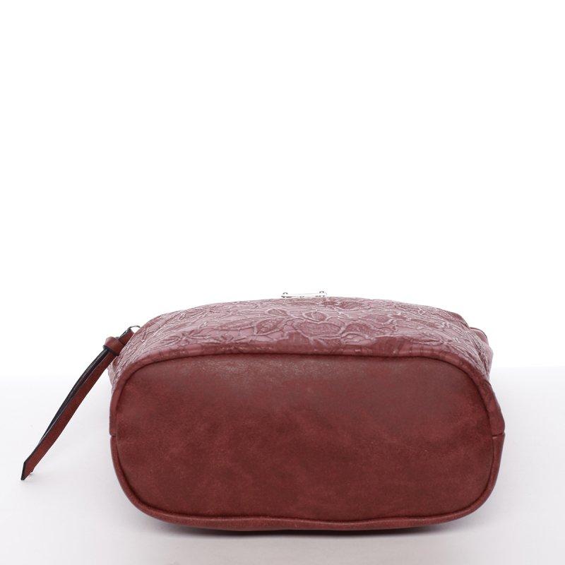 Moderní dámská crossbody kabelka Fiona,vínově červená