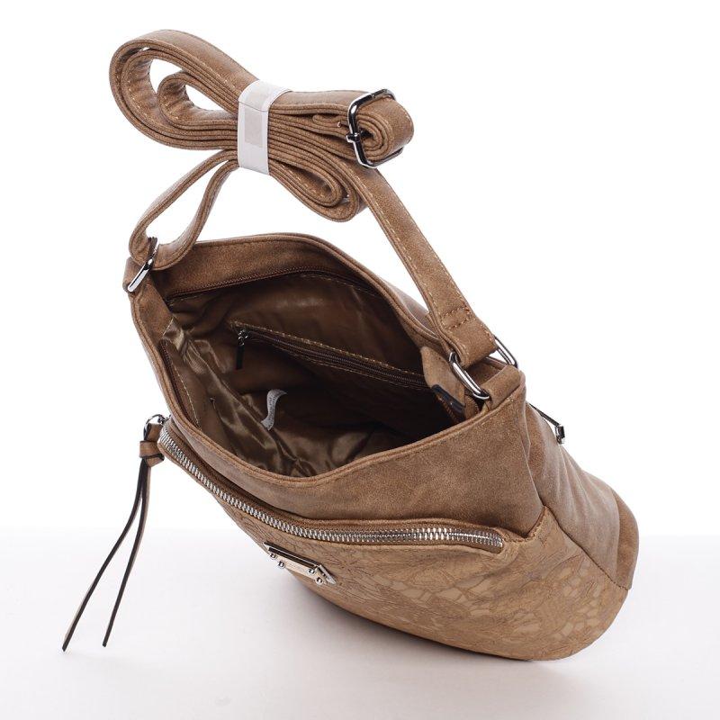 Moderní dámská crossbody kabelka Fiona, hnědá