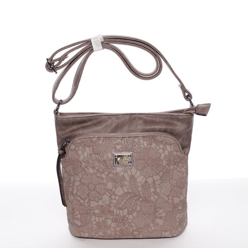 Moderní dámská crossbody kabelka Fiona, růžová