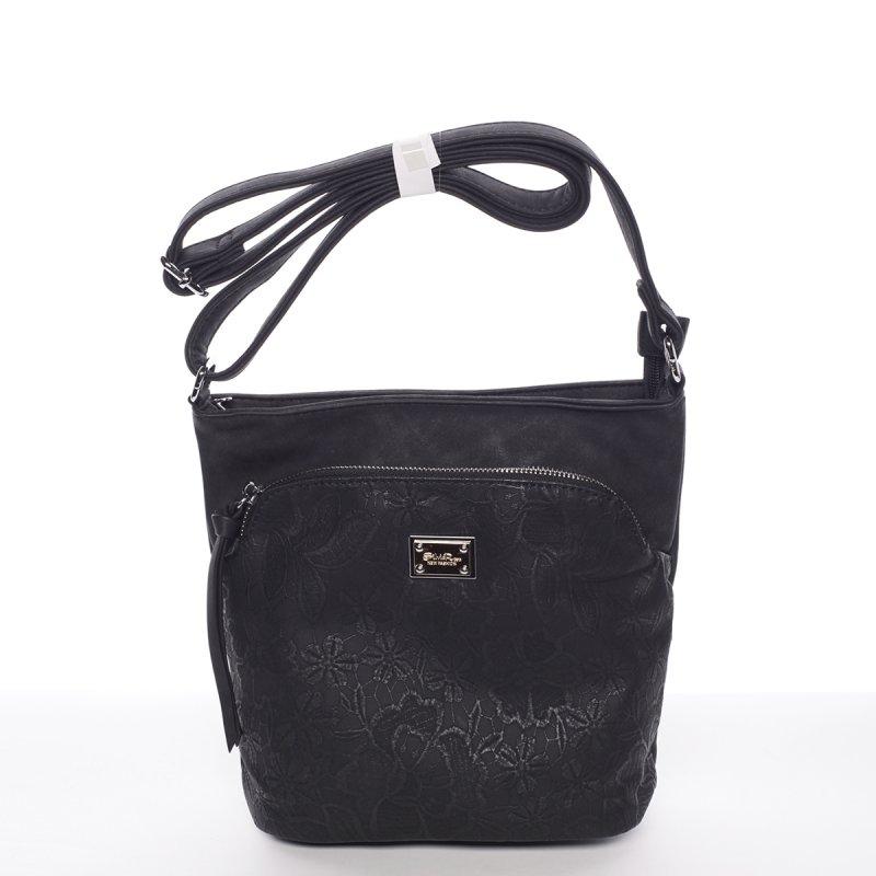 Moderní dámská crossbody kabelka Fiona, černá