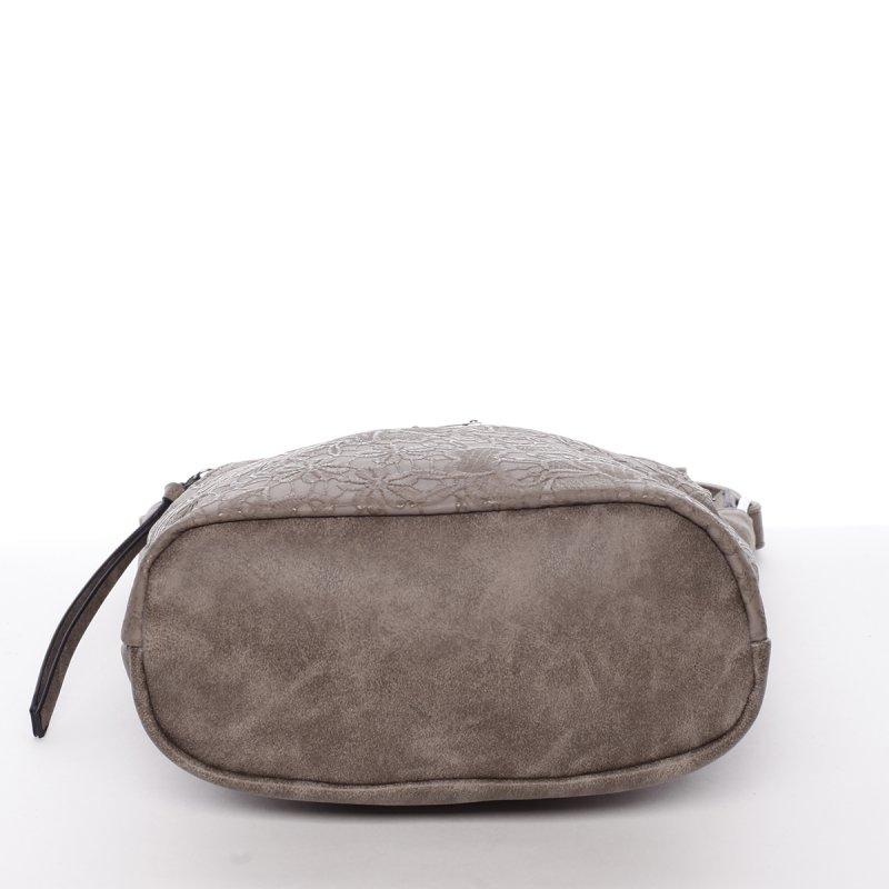 Moderní dámská crossbody kabelka Fiona, hnědá/šedá