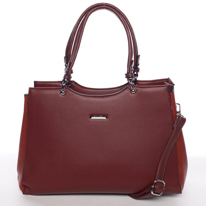 Hladká dámská kabelka přes rameno Valentina, červená