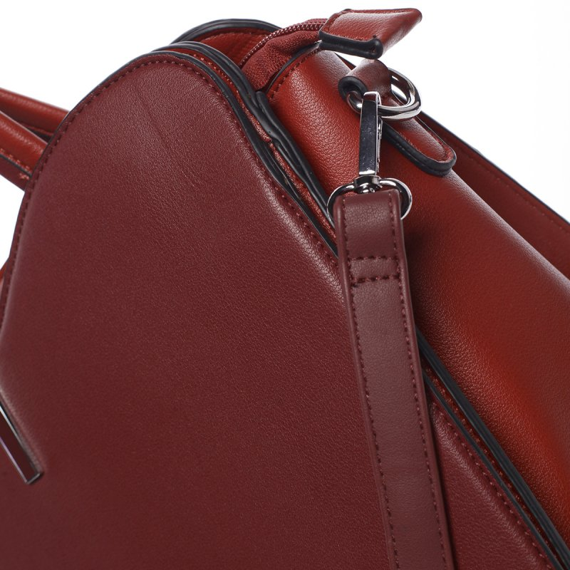 Elegantní dámská kabelka Virginia, vínově červená
