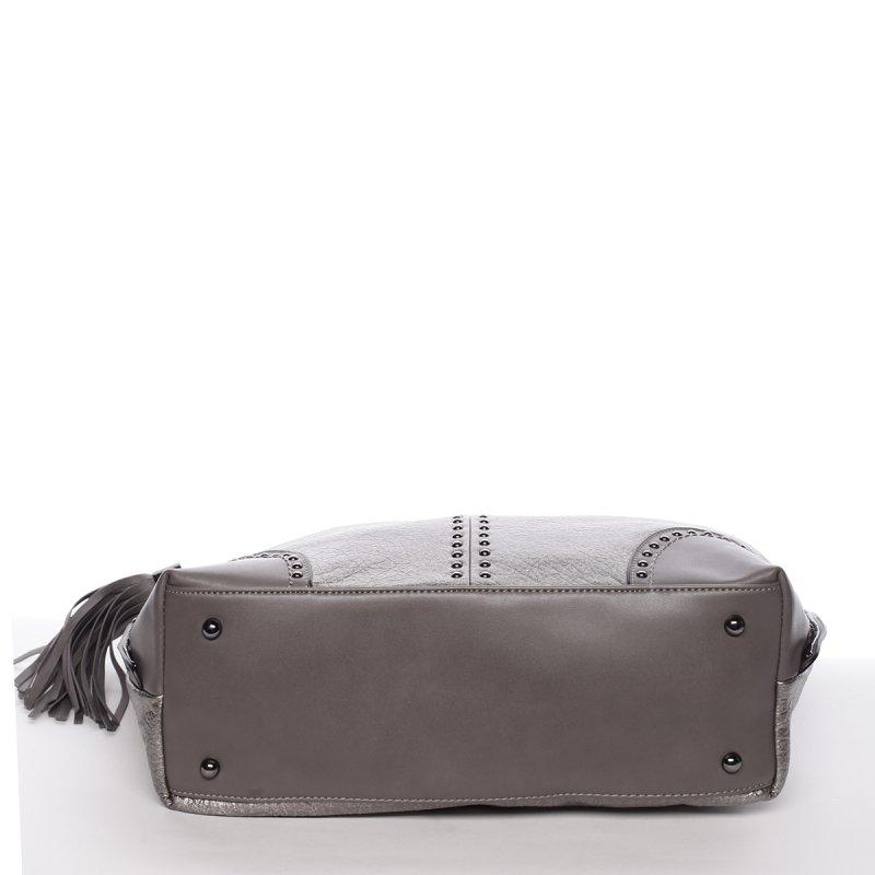 Měkká dámská kabelka Solana, stříbrná