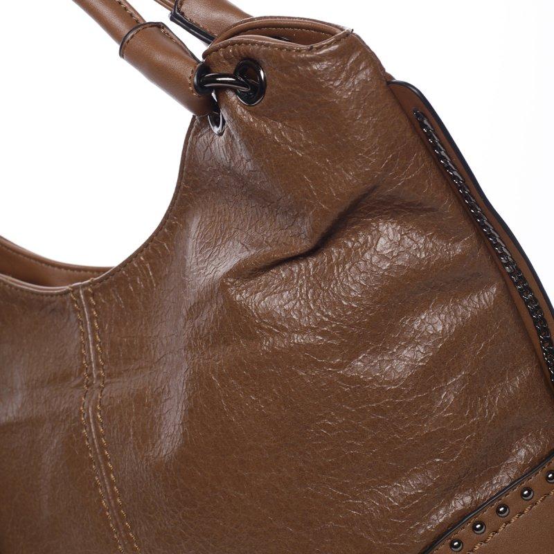 Měkká dámská kabelka Solana, hnědá